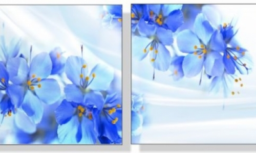МК-069 Голубые цветы