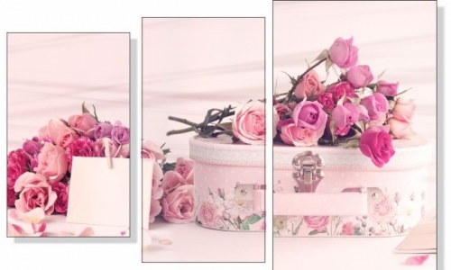 МК-034 Букеты розовых роз