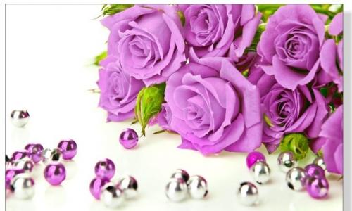 МК-032 Сиреневые розы