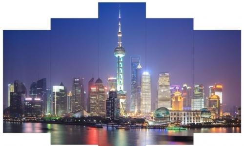 МК-074  Ночной Шанхай