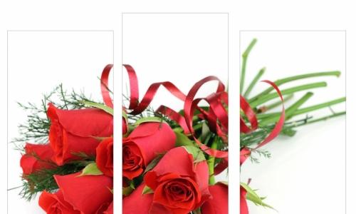 МК-017 Букет алых роз