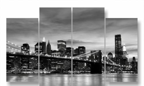 МК-070 Бруклинский мост черно-белый